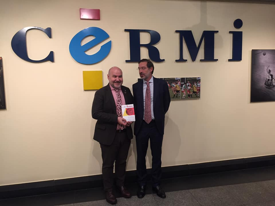 Meeting of Antonio-Luis Martínez-Pujalte with the President of CERMI